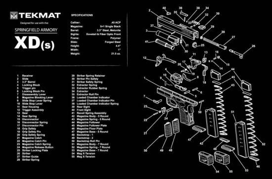 Xds Gun Cleaning Mat Xdgunparts Com Llc