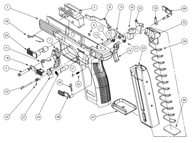 Frame%20parts%20with%20thumb%20safety Xdm Schematic on