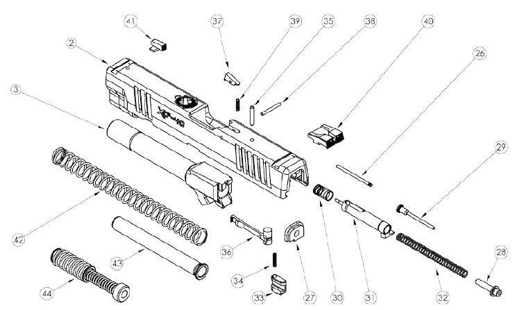 XDM-9-40-45-Slide-parts-picture Xdm Schematic on