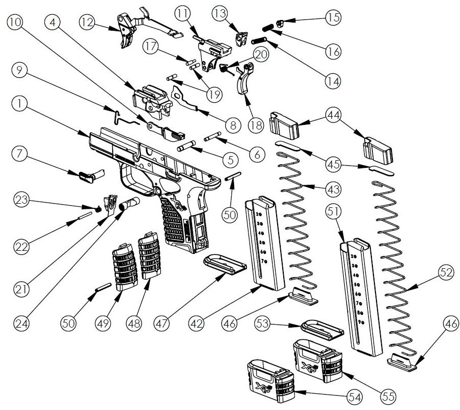 XDS-9mm-Frame-Parts-picture Xdm Schematic on